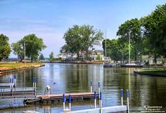 The Vermilion River as it flows through Vermilion, Ohio (PhotosToArtByMike) Tags: vermilionriver vermilionohio lakeerie vermilionrivermarina marina southernshore vermilion ohio oh eriecounty loraincounty