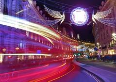 Christmas ghosts (Westhamwolf) Tags: christmas london regent street city england angels night trails bus
