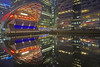 Pac Man (Canary Wharf, London, United Kingdom) (AndreaPucci) Tags: canarywharf london crossrail place reflections night uk andreapucci canoneos60