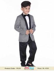 Stylish Designer Boys Wedding Tuxedo Suit Black & White (pinkblueindia) Tags: kids tuxedo wedding suits partywear little boy ringbearer outfits blackwhite 4piece kidswear toddlerboy