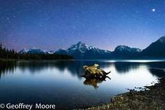 Day Into Night (GeoffMooreMedia) Tags: jacksonlake longexposure grandteton landscape grandtetonsnationalpark mtmoran astrophotography