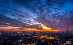 Fantastic sunset in Zagreb ... (Milan Z81) Tags: zagreb hrvatska croatia sunset zalazak zagrebeye vidikovac viewpoint grad city nebo sky oblaci clouds fantastic beautiful colorful