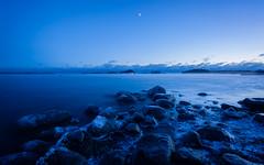 Blue Hour (Antti Tassberg) Tags: meri blue landscape yö taivas jää talvi hdr bluehour outdoor ranta beach dark ice lowlight night nightscape sea shore sky winter espoo