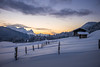 Freezing Sunset (Chris Buhr) Tags: winter landschaft winterlandschaft landscape outdoor sunset snow schnee alpen berge mountains alps cabin leica chris buhr