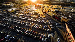 Parking Lot Aerial (TomBerrigan) Tags: woburn mass boston ma parking lot cars sunset mall traffic drone drones