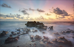 start of a new day. (evelyng23) Tags: landscape 5exp sunrise coralcove beach nature ocean waves longexposure rocks pentaxk3 aficionados pentax highdynamicrange photomatix blending 2015 august evelyng23 jupiter florida sigma 1020mm
