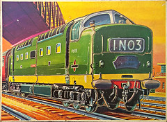 10 Piece Deltic (Jason 87030) Tags: deltic 55 britishrail jigsaw puzzle toy retro vintage pieces 1n03 green britishrailways nokia lumia 1020 2017 engine locomtive childhood memories memory