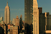 (eflon) Tags: clock empirestate bldg bldgs manhattan nyc newyork ny skyline view sunset warm tones