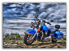 May 11 2015 - The King atop Watson's Point (La_Z_Photog) Tags: lazy photog elliott photography worland wyoming harley davidson road king flhp former police bike from billings montana clouds beautiful scenery 051115watsonspoint