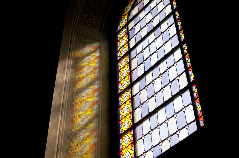 """Stained-glass window • <a style=""""font-size:0.8em;"""" href=""""http://www.flickr.com/photos/28211982@N07/20262438773/"""" target=""""_blank"""">View on Flickr</a>"""