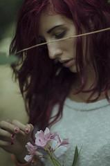 9858 (riccardo.fissore) Tags: pink woman flower cute girl beautiful beauty garden carina reflective jumper bella lovely delicate petali tender gentle giardino oleandro riflessivo maglione tenera delicato mamanonmama