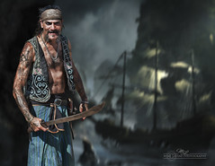 Pirate with Sword (mikeyasp) Tags: photoshop nikon tattoos pirate sword layers renaissancefestival sailingship pirateship swashbuckler