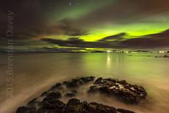Roaches Beach Aurora (Brendan Davey) Tags: green glow aurora lauderdale tasmania slime hobart australis