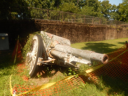 Abandoned historic canon at Fort Howard Park - Baltimore County - Maryland - August 2015