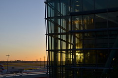 Heathrow Sunrise (sgreen757) Tags: morning sun london sunrise early airport nikon heathrow 5 five terminal structure rise d7000