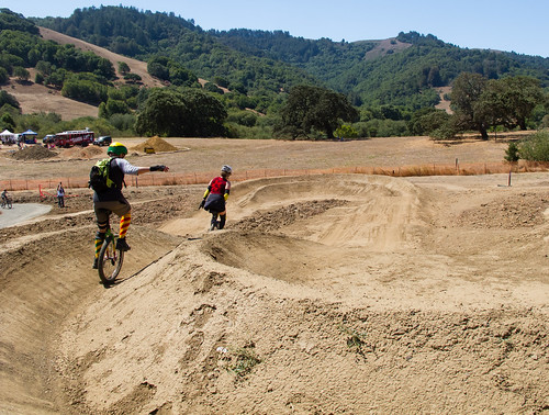 Ashley and Jim on the dual slalom course