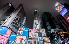 Times Square in the fog - NYC (blink to click) Tags: nyc newyorkcity longexposure newyork fog architecture buildings manhattan timessquare click blink bigapple thecitythatneversleeps nikond80 blinktoclick
