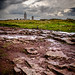 Stone, the heath, the lighthouse at Cap Frehele