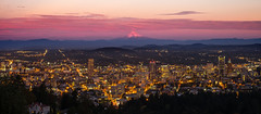 Downtown Portland Sunset (TwistedJake) Tags: mountains oregon portland downtown mt pacific northwest mount hood mansion cascade pittock