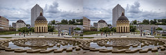 fountains at Peterburgskaya street in Kazan' (urix5) Tags: street building fountain architecture stereoscopic 3d crosseyed russia stereo fountains stereopair ru kazan crossview tatarstan peterburgskaya respublikatatarstan