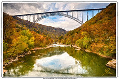 New River Gorge Bridge (Michael Pancier Photography) Tags: autumn mountains fall us unitedstates bridges wv westvirginia rivers cascades newhaven streams impressions edmond newrivergorgebridge newriver topaz countryroads newrivergorge us19 commercialphotography thecountry bridgeday naturephotographer nationalriver newrivergorgenationalriver michaelpancierphotography landscapephotographer fineartphotographer michaelapancier fayettestationroad wwwmichaelpancierphotographycom