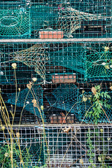 20150915 USA New England 01777 - Copy (R H Kamen) Tags: usa horizontal america outdoors photography trapped fishing day pattern order maine newengland nopeople cage stack backgrounds inarow lobstertraps lobsterpot colorimage largegroupofobjects fishingindustry animalthemes colourimage rhkamen