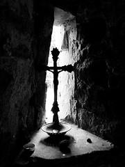 Shrine (lurcherlad) Tags: light shadow window stone memorial shrine catholic candle derbyshire faith religion masonry stjoseph spanish offering crucifix votive errwood governess grimshawe