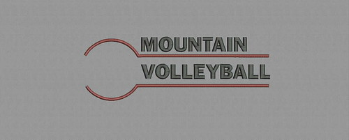 Mountain Volleyball - embroidery digitizing by Indian Digitizer - IndianDigitizer.com