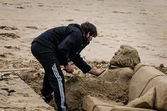 Checking for a Heartbeat (Jilly_Snaps) Tags: sculpture london art beach thames sand artist sofa modelling sandsculpture beachart