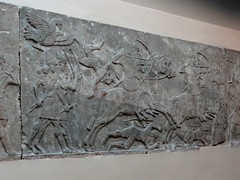 Assyrian wall panel depicting battle (ca. 860 B.C.) (heffelumpen9) Tags: sculpture relief britishmuseum assyria nimrud assyrianart neoassyrian kalhu ashurnasirpalii ancientneareast