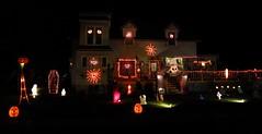 IMG_1785 (2) Halloween house (jgagnon63@yahoo.com) Tags: nightphotography decorations panorama usa halloween lowlight october jackolantern michigan ghosts ghouls escanaba devilsnight canons110 halloweenhouses