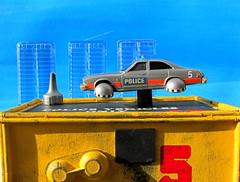 Corgi Toys Buick (Century) Regal Police Car No. 416 Converted Into A Futuristic Sci-Fi Hover Car : Diorama A Hover Police Car City Scene - 53 Of 98 (Kelvin64) Tags: city car century toys buick corgi no police scene scifi converted futuristic regal diorama hover 416 a into