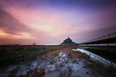 The Mount (Tony N.) Tags: longexposure sunset bw france evening europe normandie soire normandy mont coucherdesoleil vanguard montsaintmichel limon saintmichel passerelle beauvoir polders poselongue d810 nd110 tonyn bwnd110 nikkor1635f4 tonynunkovics