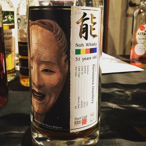 Een Karuizawa 31 jaar oud gebotteld op 66,3 % ABV ... Een droomflesje precies. #karuizawa #whiskywithfriends #whisky