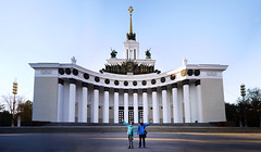 VDNKh (asenseof.wonder) Tags: travel winter panorama day afternoon russia moscow pillar classical