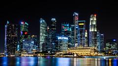 Singapore   |   Night Postcard (JB_1984) Tags: skyline cityscape view vista urban skyscraper tower water reflection night cbd centralbusinessdistrict marinabay singapore nikon d7100 nikond7100
