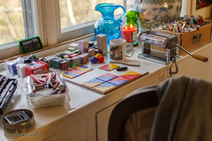 2015 318/365 (lisaclarke) Tags: studio us newjersey unitedstates crafts polymerclay diningroom 365 making crafting worktable longhill project365 photoprojects cornersofmyhome claytable polkadotcottage 3652015 00places