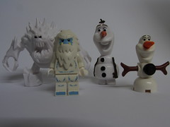 Lego Olaf and Lego Abominable Snowman with Frozen Friends (annrushworth) Tags: toys olaf snowman lego abominable