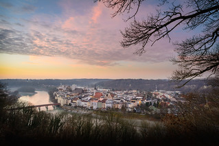 Rosy Evening Mood in Wasserburg