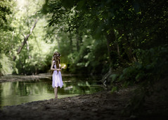 Faith, Trust, and Pixie Dust (Syllhouette) Tags: benge bokeh christina christinabengephotography dirt disney fairie fairy green make believe natural light nature neverland nikon nikon85mm nikond800 outdoors sprite tinkerbell whimsicle woodland woods child childhood children kid kids peter pan whimsical barefoot outdoor