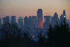Metropolis (phardon) Tags: city urban life building skyscrapper high metropol istanbul turkey night dusk down reflection