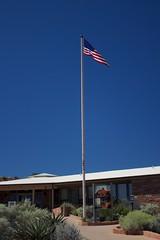 Flag (annelaurem) Tags: america arizona az bluesky unitedstates usa usaflag wupatkinationalmonument wupatkitrail wupatkivisitorcenter flag patriot sky np