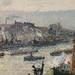 PISSARRO Camille,1896 - Port de Rouen, St-Sever (Orsay) - Detail 22