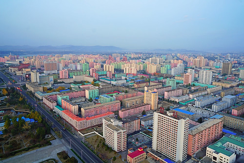 Pyongyang cityscape from Juche Tower, DPRK