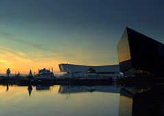 Liverpool Skyline Sunset (Tony Worrall) Tags: liverpool merseyside mersey scouse england northern uk update place location north visit area county attraction open stream tour country welovethenorth northwest unitedkingdom season serene scenic river wet water reflection wetreflection calm dusk sunset city architecture building sky skyline