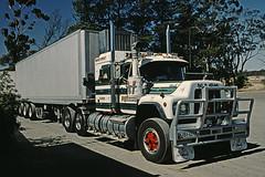 Australian Truck (Stefan Fisher) Tags: southaustralia minoltaxd7 kodakektachrome scanned 35mm downunder outback oz truck mack