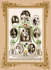 Deutsches Kaiserhaus 1913 mit Passepartout (zimmermann8821) Tags: atelierfotografie berlin deutscheskaiserreich familienfoto fotografiekoloriert mode person kaiserwilhelnmii