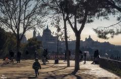 Un balcón con buenas vistas... (Leo ☮) Tags: enero invierno palacioreal catedral almudena gente escena mañana sol luz frío sombras madrid