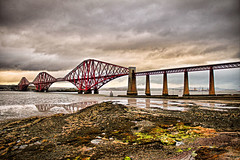 forth rail bridge (Duncan the road rebel) Tags: forth rail bridge railbridge forthrailbridge landscape landscapesofscotland scotland scottish scottishlandscape scotlandslandscape water landmark outdoor outside old metalstructure historic historiclandmark reflection