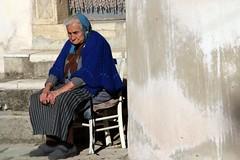 That's life... (modestino68) Tags: ritratto portrait vecchia oldwoman sedia seat muro wall vanmorrison